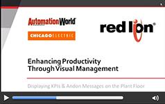 通过可视化管理提高生产率:在工厂车间显示KPI和消息